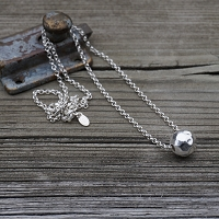BellaBall Necklace Hammered